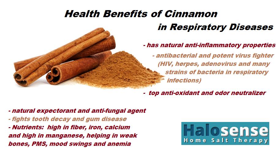 Health Benefits of Cinnamon in Respiratory Diseases